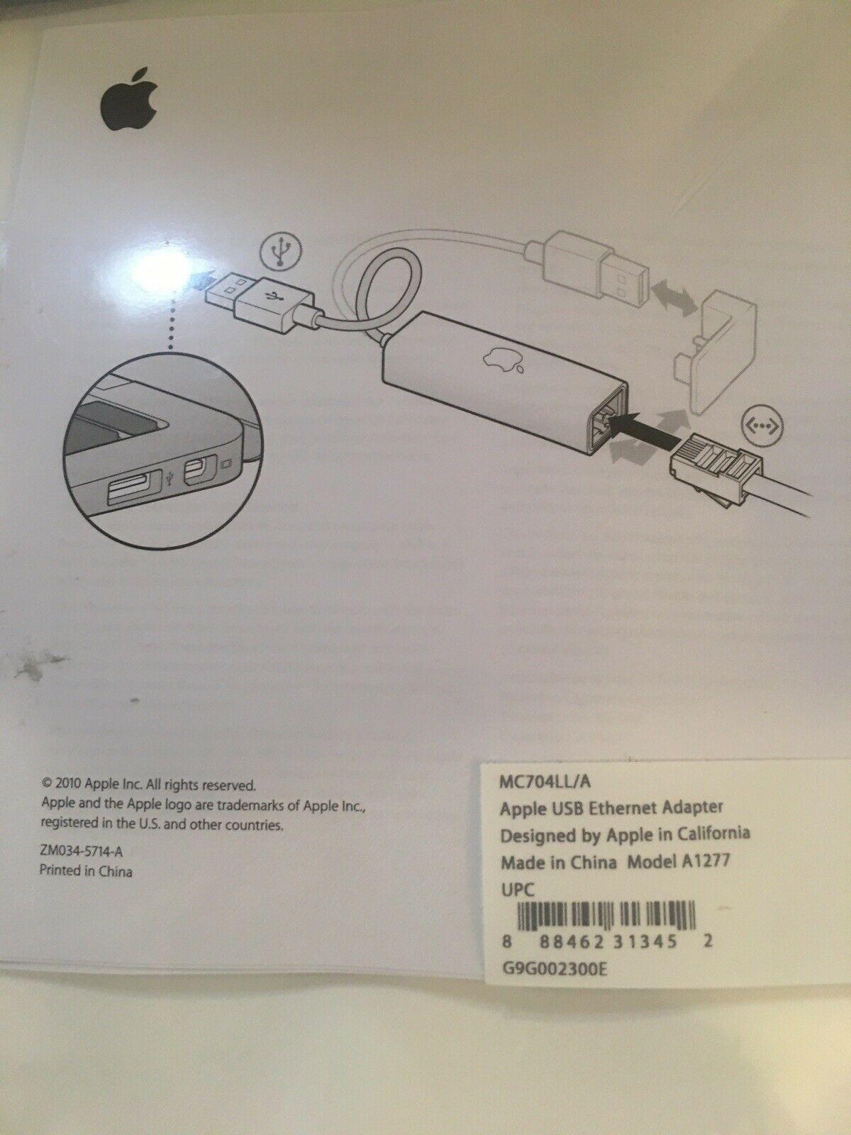 New-Apple-USB-Ethernet-Adapter-MC704LL-A-Model-A1277